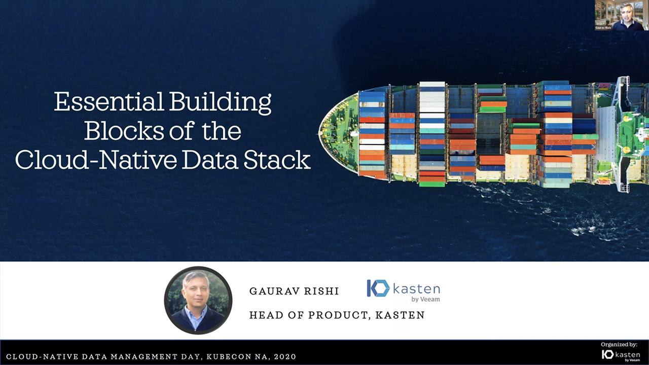 Essential Building Blocks of the Cloud Native Data Stack